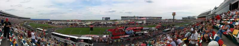 Seating view for Charlotte Motor Speedway Section General Motors G Row 20 Seat 27