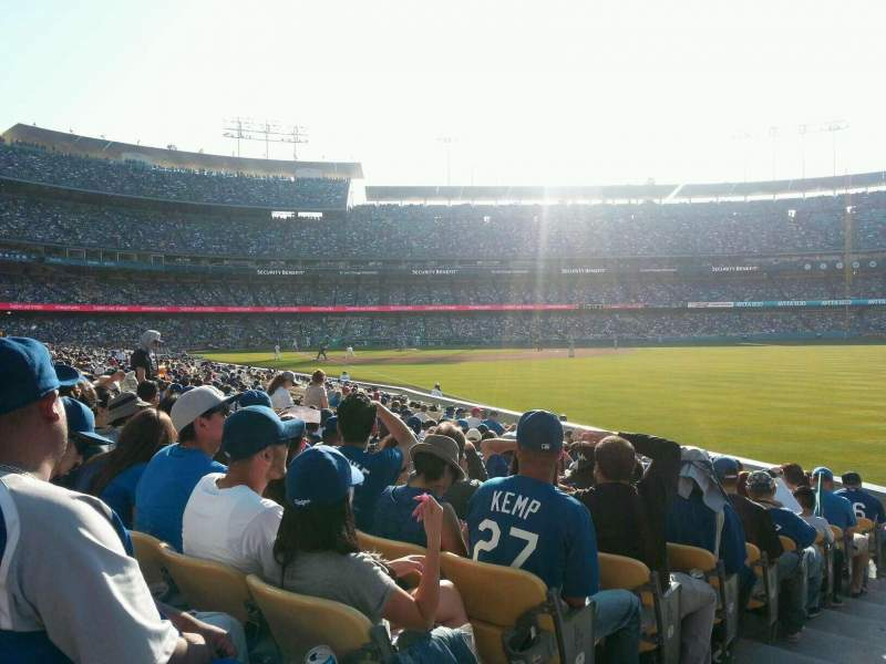 Seating view for Dodger Stadium Section 48FD Row M Seat 1