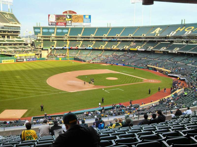 Seating view for Oakland Alameda Coliseum Section 225 Row 13