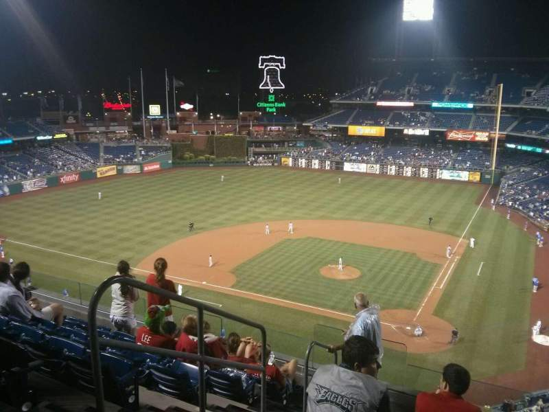 Seating view for Citizens Bank Park Section 323 Row 7 Seat 10