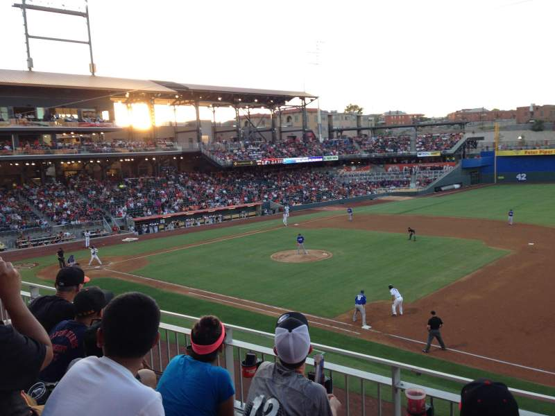 Seating view for Southwest University Park Section 204 Row C Seat 10