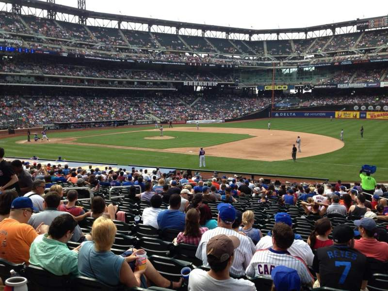 Seating view for Citi Field Section 110 Row 13