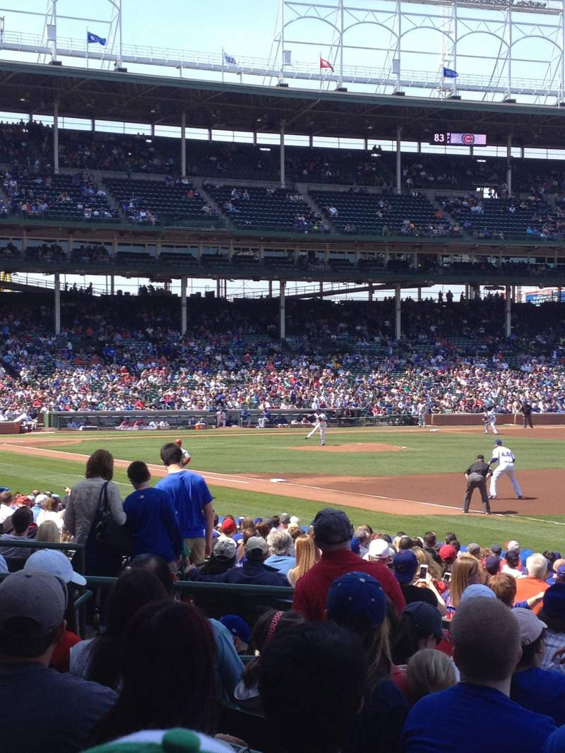 Seating view for Wrigley Field Section 137 Row 8 Seat 103
