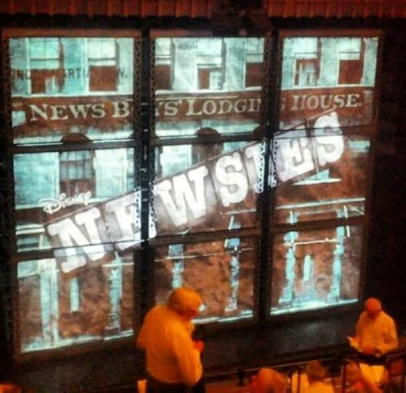 Seating view for Nederlander Theatre Section Rear Mezzanine - Left Row LL Seat 13
