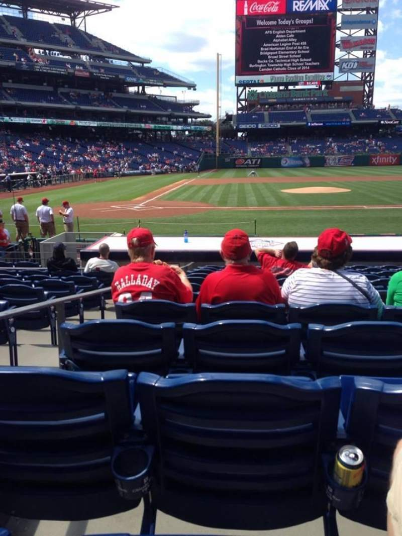Seating view for Citizens Bank Park Section 118 Row 12 Seat 7