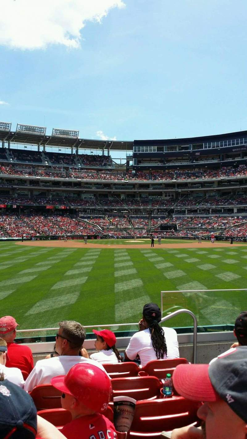 Seating view for Nationals Park Section 100 Row F Seat 9