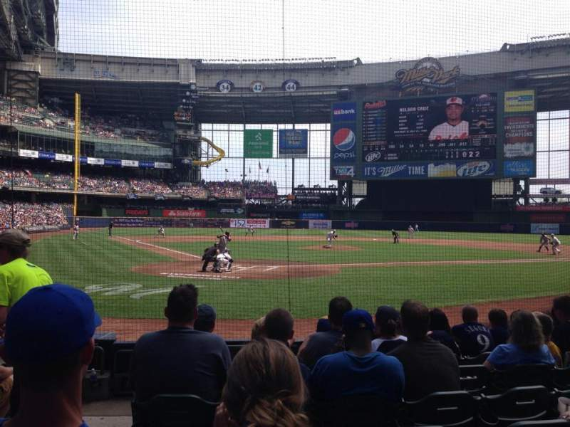 Seating view for Miller Park Section 116 Row 2 Seat 2