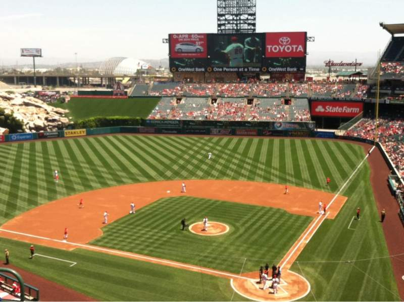 Seating view for Angel Stadium Section V416 Row E