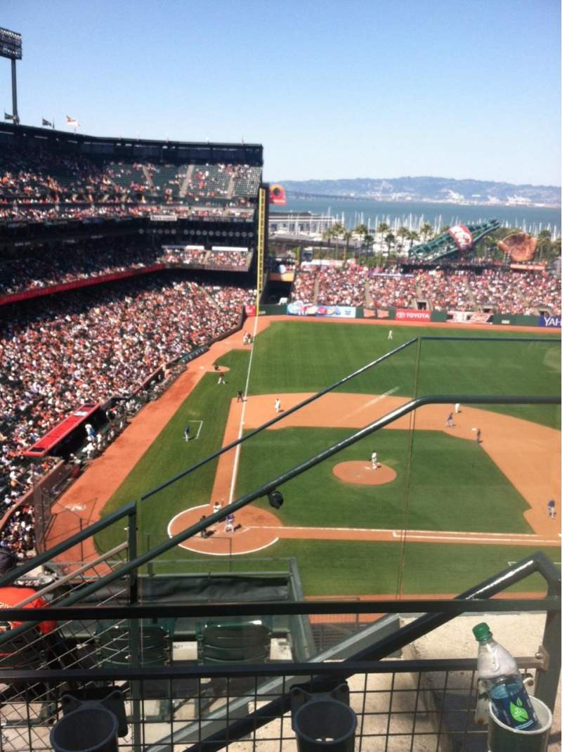 Seating view for AT&T Park Section 311 Row 2 Seat 2