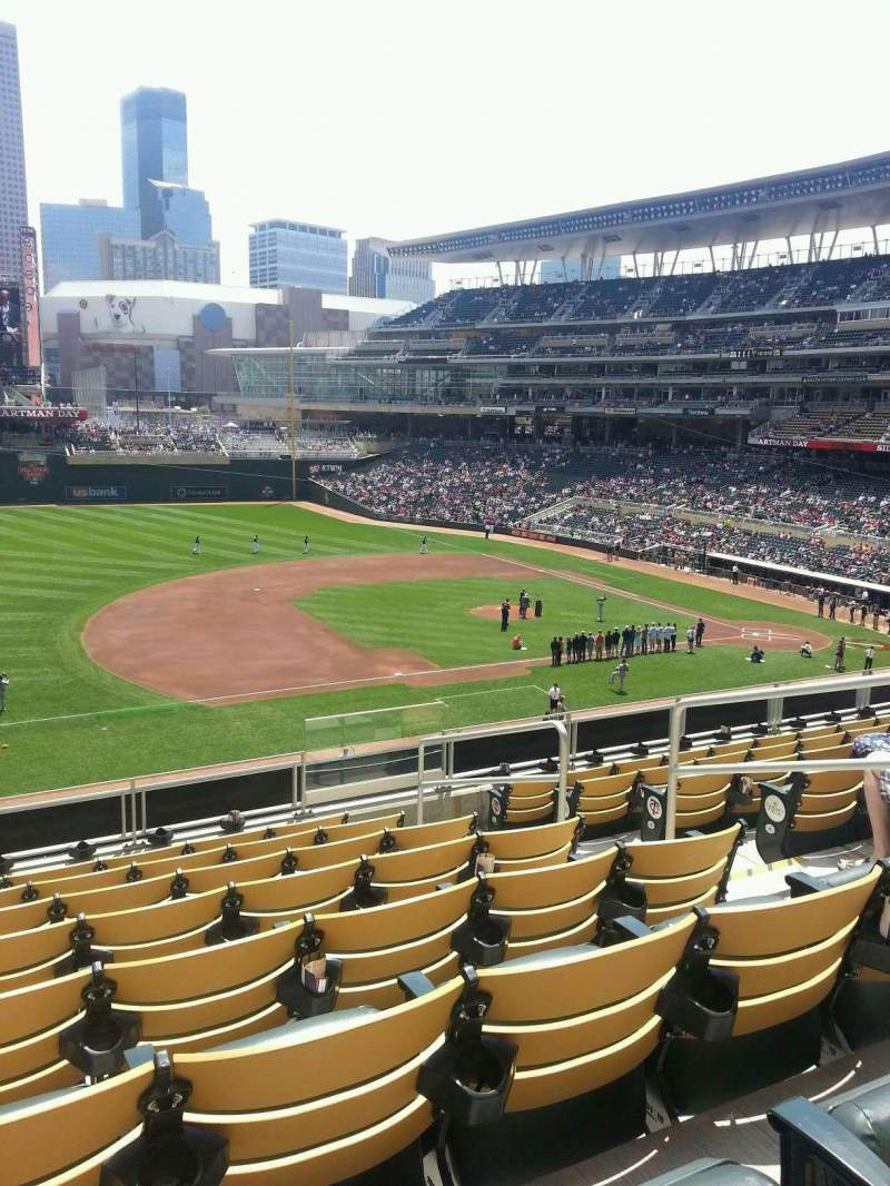 Seating view for Target Field Section legends club