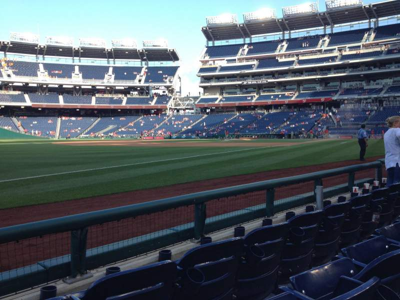 Seating view for Nationals Park Section 111 Row C Seat 16