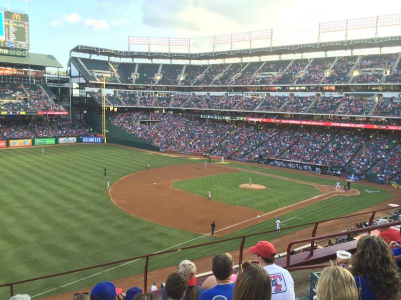 Seating view for Globe Life Park in Arlington Section 214 Row 5 Seat 12