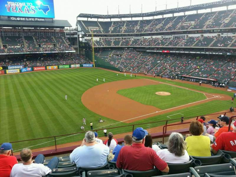 Seating view for Globe Life Park in Arlington Section 215 Row 8 Seat 12