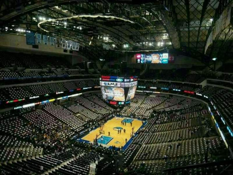 Seating view for American Airlines Center Section 316 Row j Seat 4