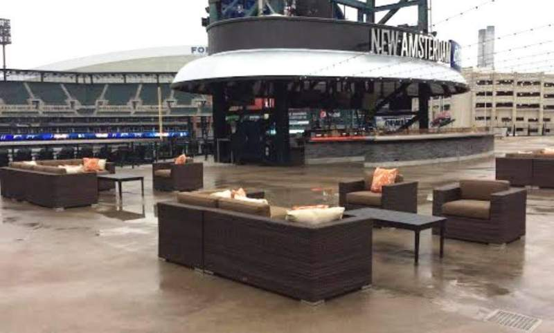 Seating view for Comerica Park Section Pepsi Porch Row New Amsterda Seat Open Air S