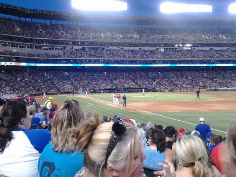 Seating view for Globe Life Park in Arlington Section 38 Row 12 Seat 8