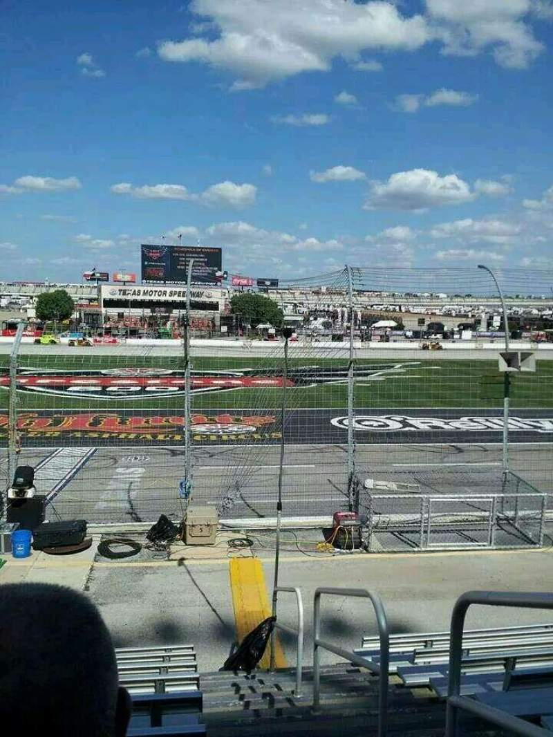 Seating view for Texas Motor Speedway Section PL101 Row 9 Seat 20