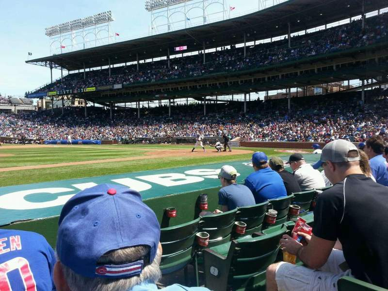 Seating view for Wrigley Field Section 14 Row 4 Seat 101