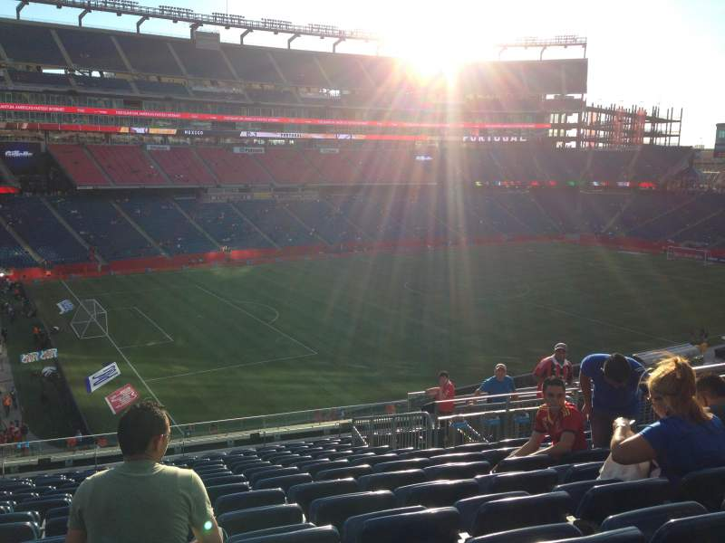 Seating view for Gillette Stadium Section 336 Row 14