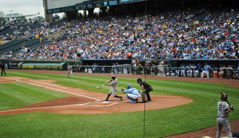 Seating view for Kauffman Stadium Section 122 Row L Seat 6