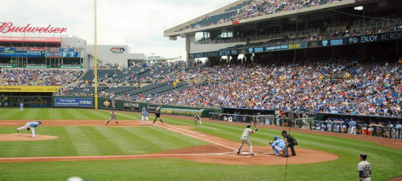 Seating view for Kauffman Stadium Section 122 Row L Seat 7