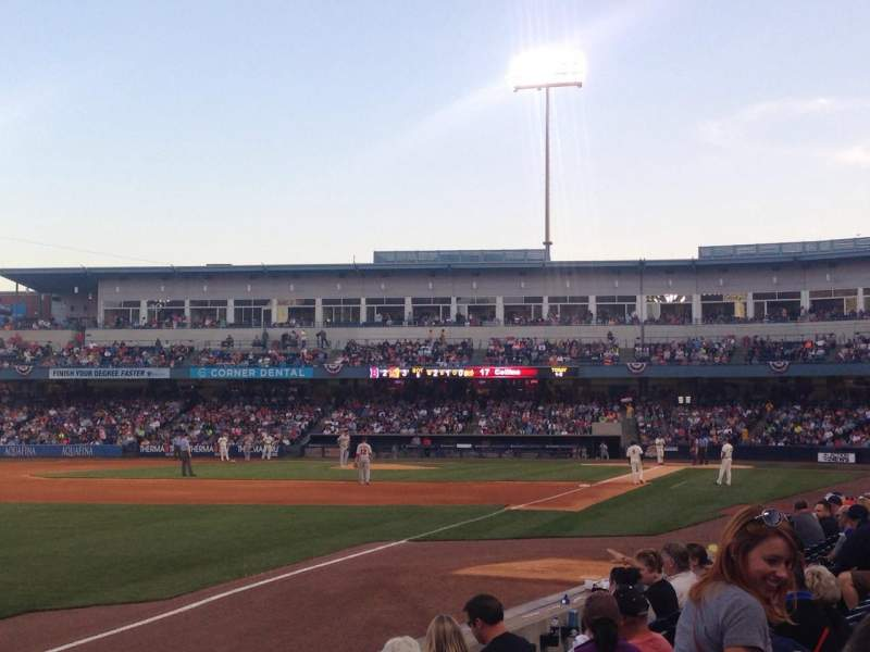 Seating view for Fifth Third Field Section 101 Row G Seat 7