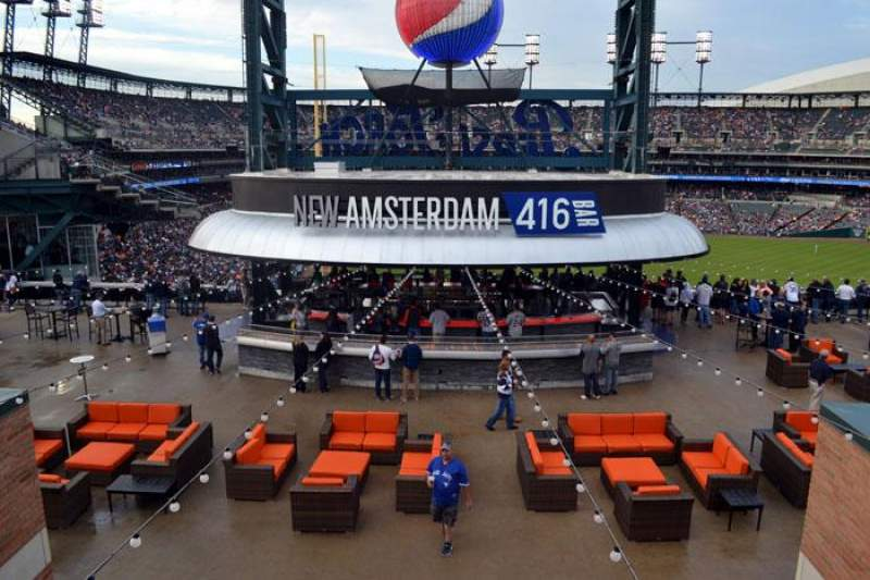 Seating view for Comerica Park Section Pepsi Porch