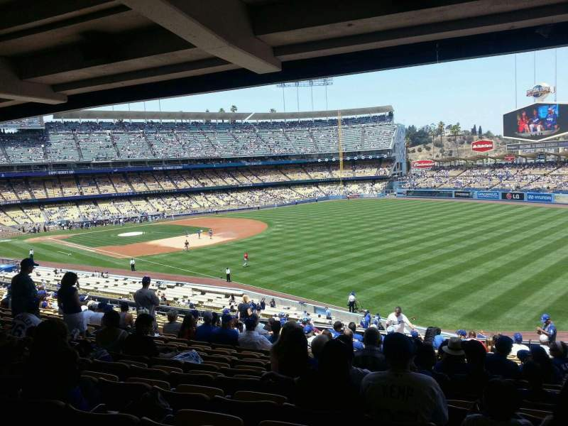 Seating view for Dodger Stadium Section 160LG Row T Seat 14