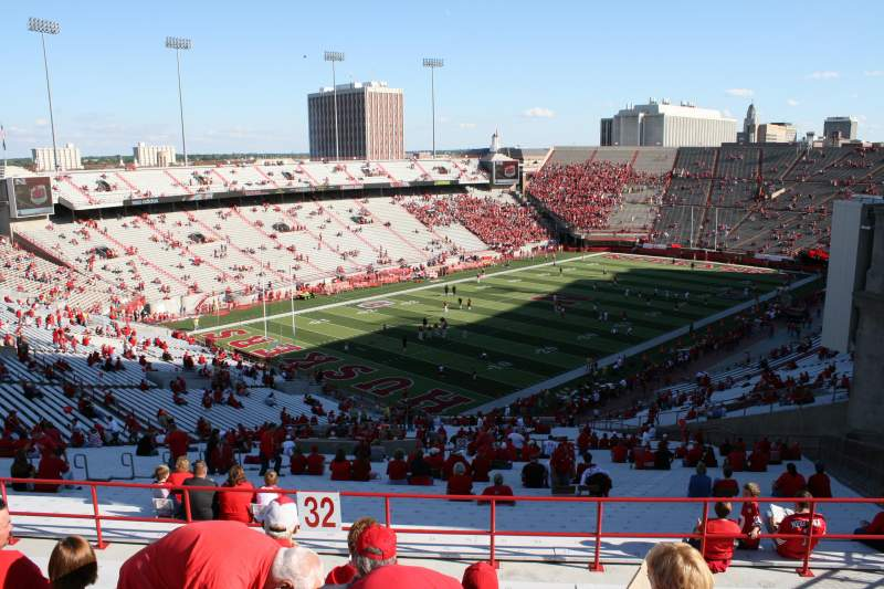 Memorial Stadium (Lincoln), section 32, row 90 - Nebraska ...