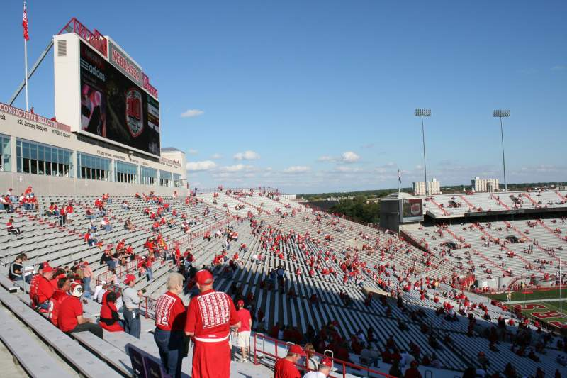 Seating view for Memorial Stadium Section 32 Row 90