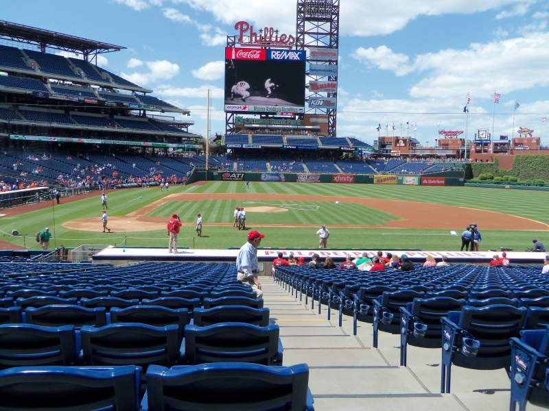 Seating view for Citizens Bank Park Section 118 Row 24 Seat 1