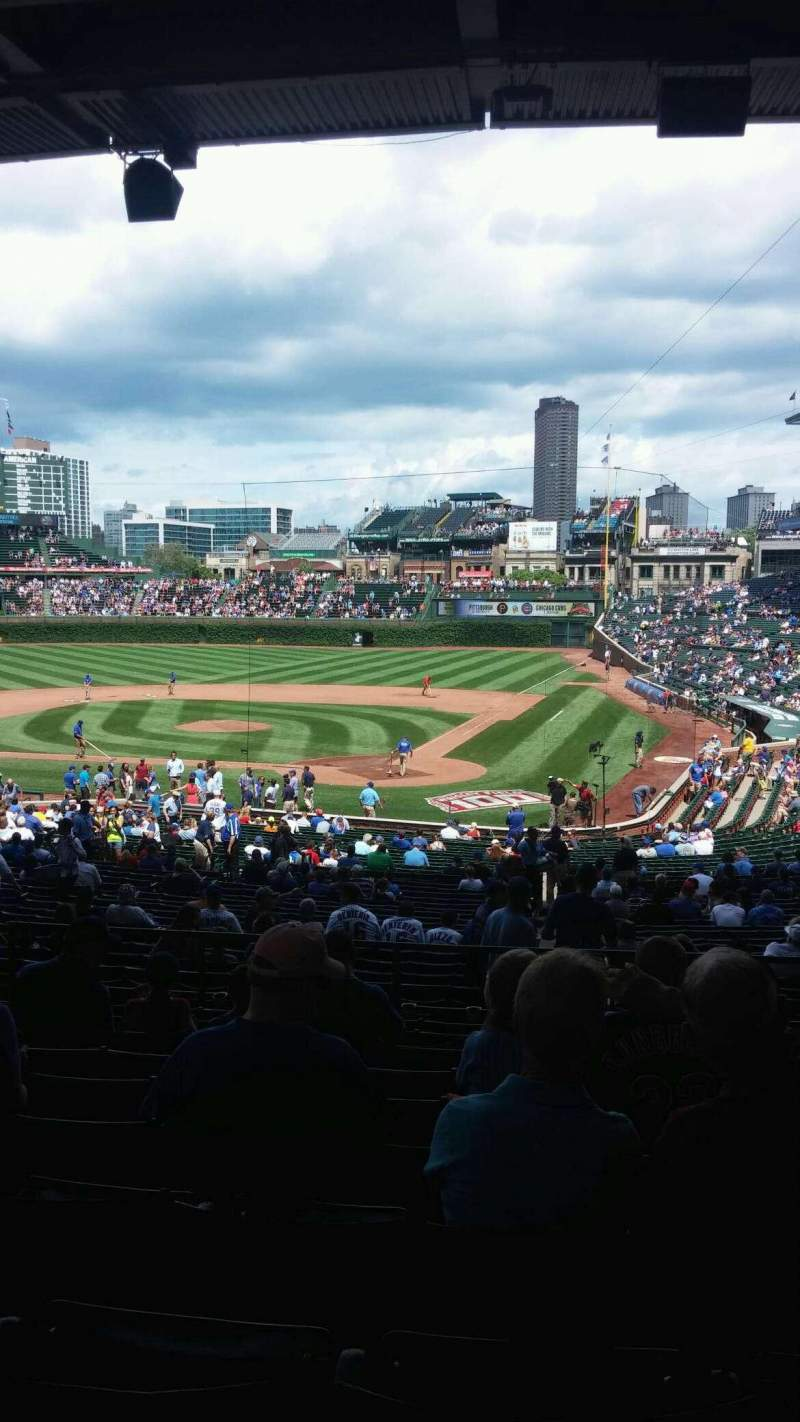 Seating view for Wrigley Field Section 218