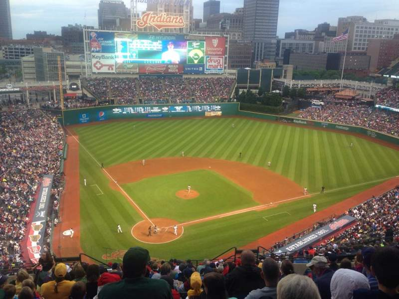Seating view for Progressive Field Section 552 Row R Seat 13