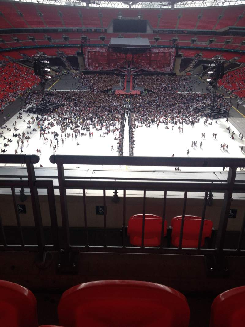 Seating view for Wembley Stadium Section 514 Row 16 Seat 1