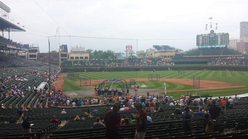 Seating view for wrigley field Section 224 Row 9 Seat 112