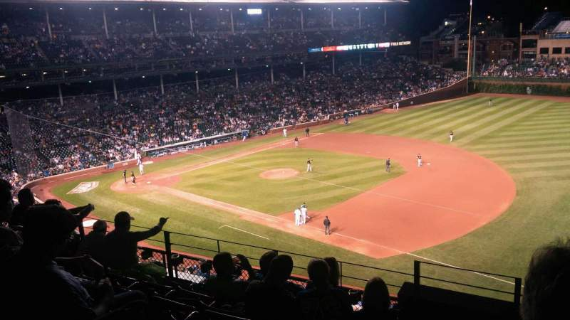 Seating view for Wrigley Field Section 433 Row 6 Seat 1