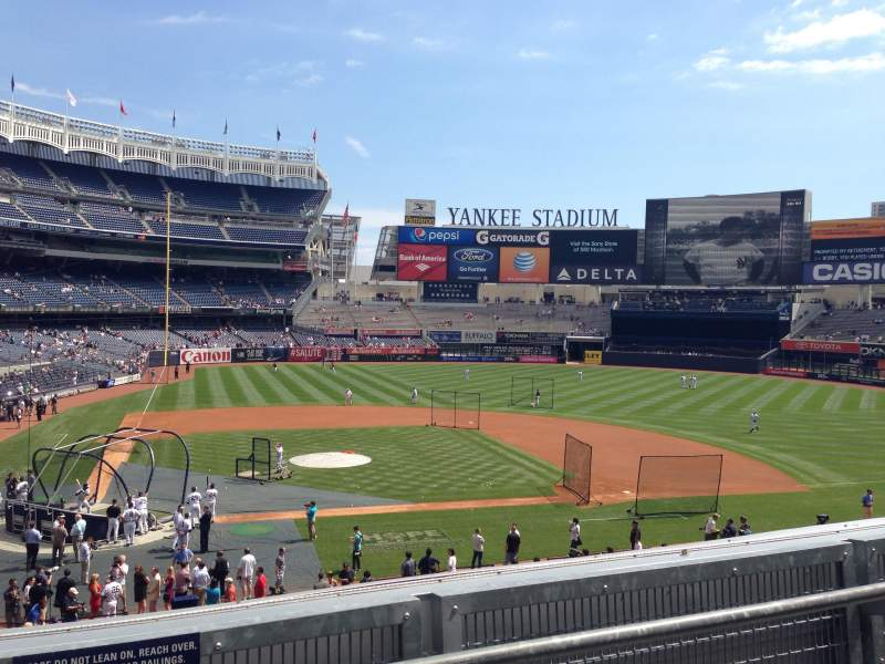Seating view for Yankee Stadium Section 217 Row 2 Seat 16