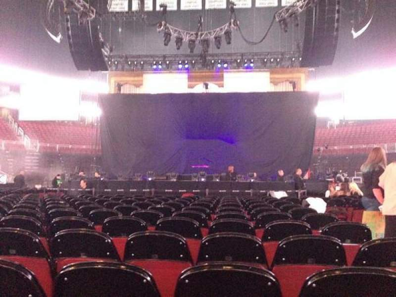 Seating view for Prudential Center Section E Row 1 Seat 3