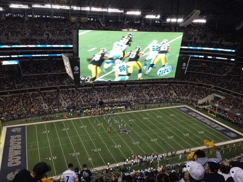 Seating view for AT&T Stadium Section 416 Row 22 Seat 1
