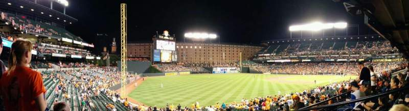 Seating view for Oriole Park at Camden Yards Section 69 Row 3 Seat 1