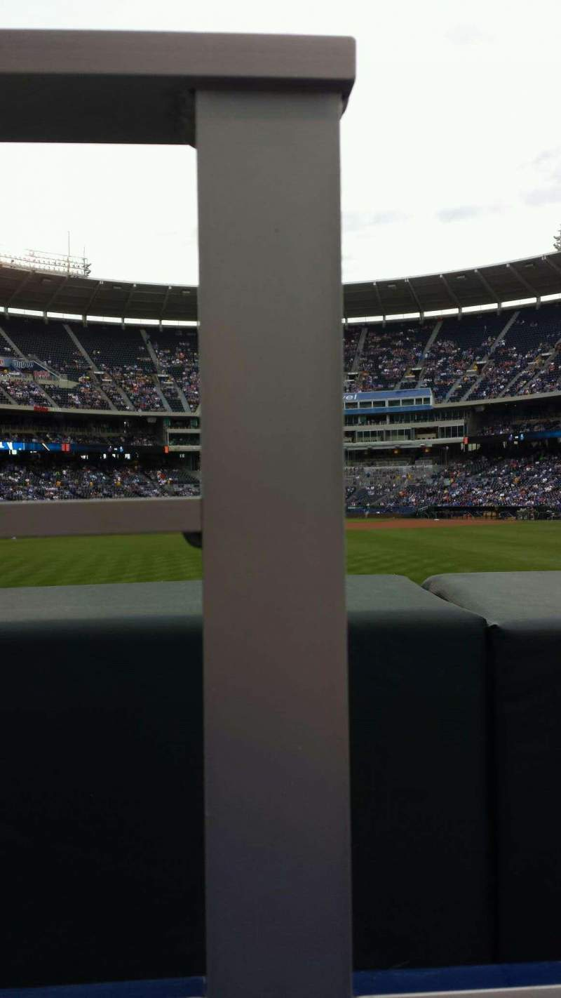 Seating view for Kauffman Stadium Section 101 Row A Seat 1