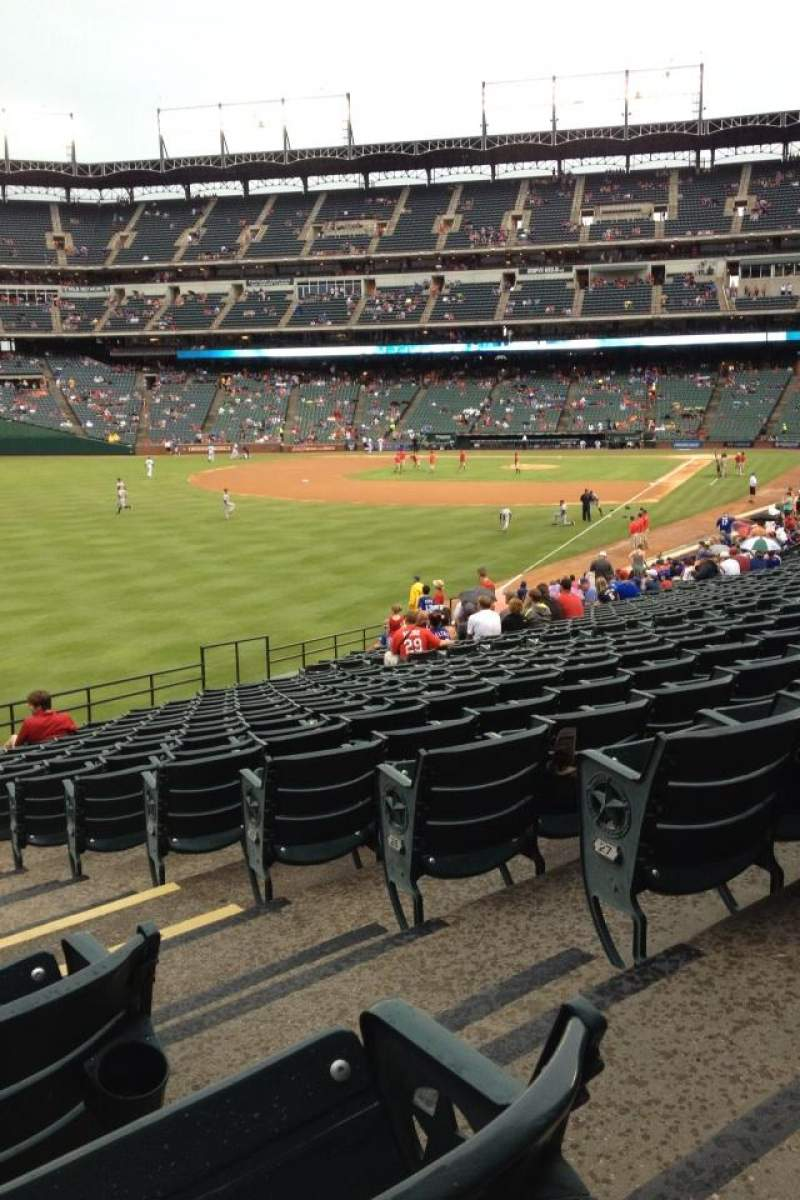 Seating view for Globe Life Park in Arlington Section 9 Row 13 Seat 27