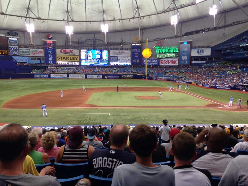 Seating view for Tropicana Field Section 115 Row HH Seat 8