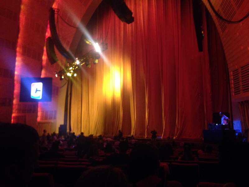 Seating view for Radio City Music Hall Section Orchestra 1 Row SS Seat 108