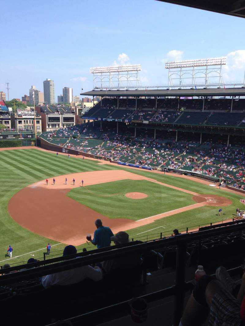 Seating view for Wrigley Field Section 509 Row 2 Seat 109