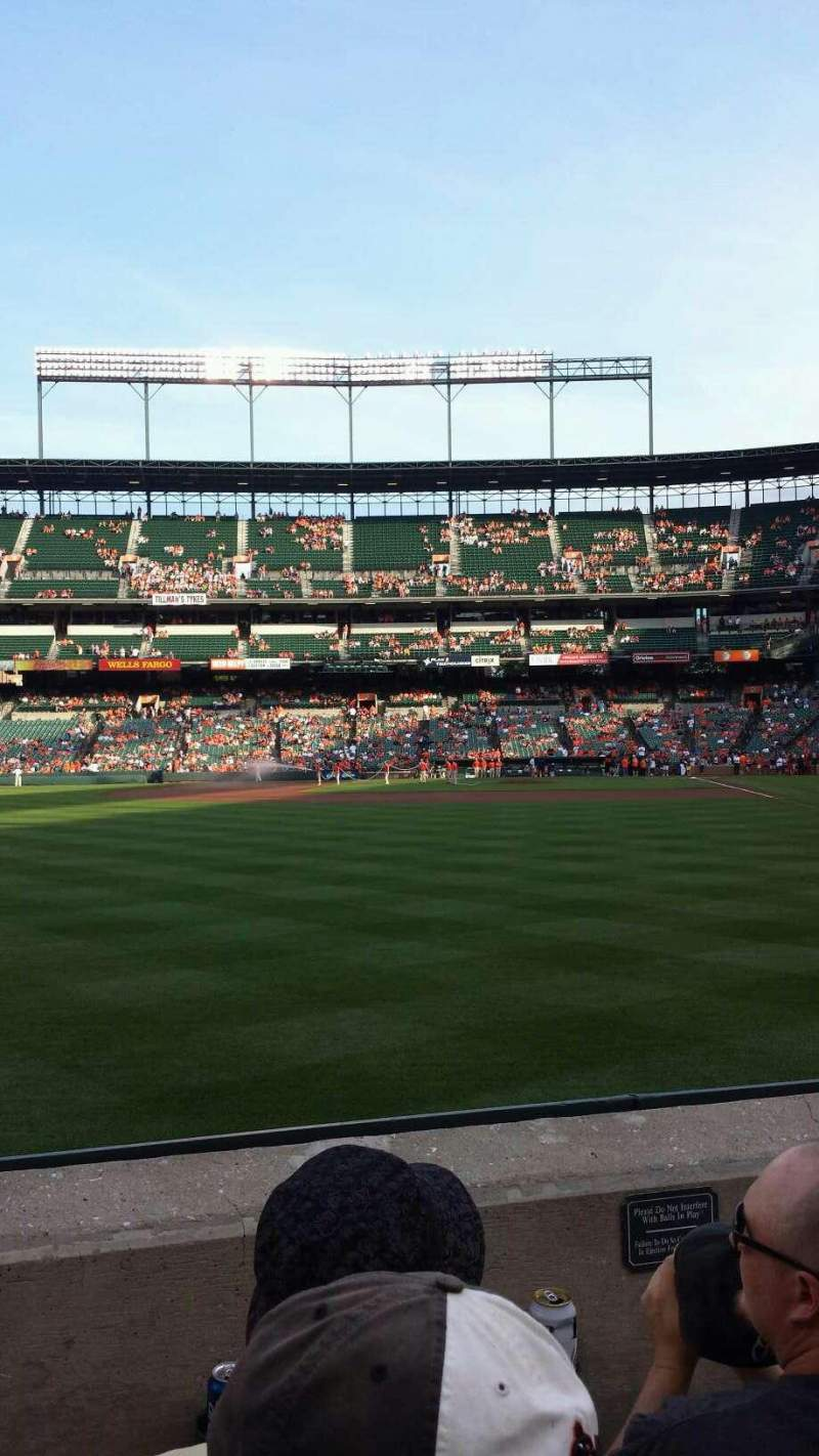 Seating view for Oriole Park at Camden Yards Section 76 Row 3 Seat 9-10