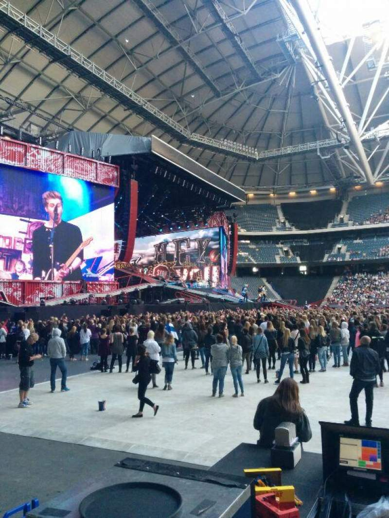 Seating view for Friends Arena Section 129 Row 2