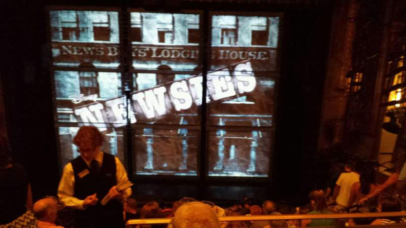 Seating view for Nederlander Theatre Section MEZZ Row JJ Seat 105