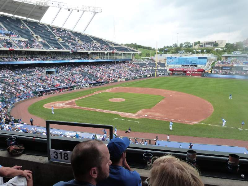 Seating view for Kauffman Stadium Section 319 Row C Seat 2