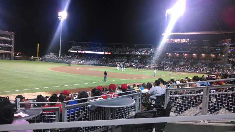 Seating view for Southwest University Park Section 122 Row M